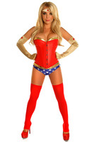 Adult Women Super Hero Wonder Women Costume Halloween Party Cosplay Avengers Superman Supergirl Bodysuit Outfit