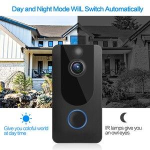 Image 3 - GEEKAM 1080P WiFi וידאו פעמון V7 חכם IP וידאו אינטרקום משלוח ענן הקלטת עבור דירה IR מעורר אבטחה אלחוטית מצלמה