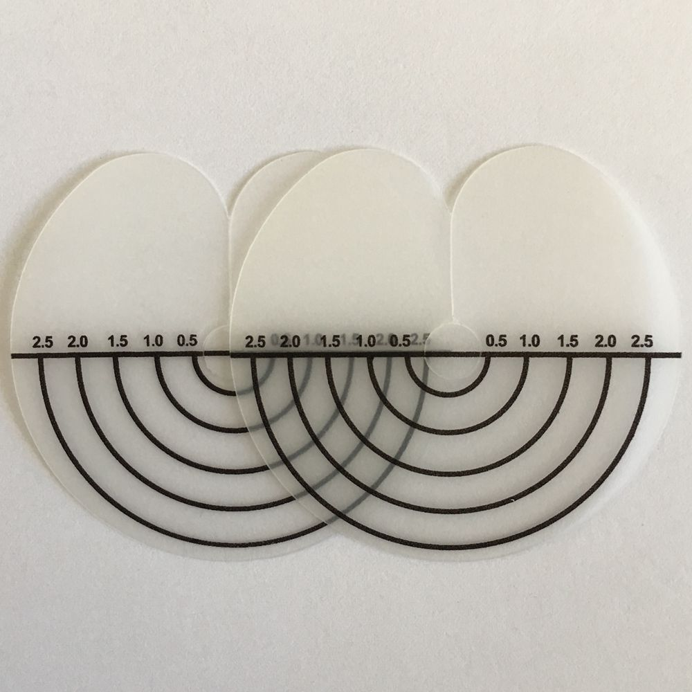 150pcs round scalp shield protector hair extension shield protector with line