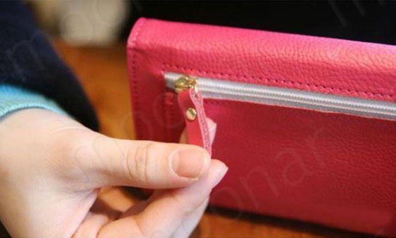 B489 women leather wallet purse (9)