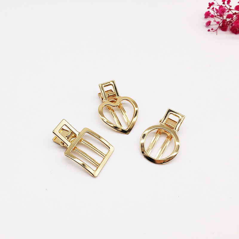 2Pcs/set Vintage Pearl Hair Clips Hairpins Glossy Matte Hollow Metal Hairpin Hair Styling Tools Hair Claw Accessories