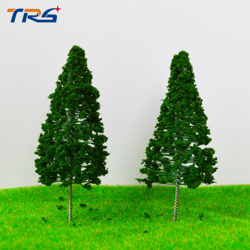 Teraysun 20X Ho Railway Scenery Layout 80mm Iron Wire Model Tower Pine Tree Miniature Model Scale Tree
