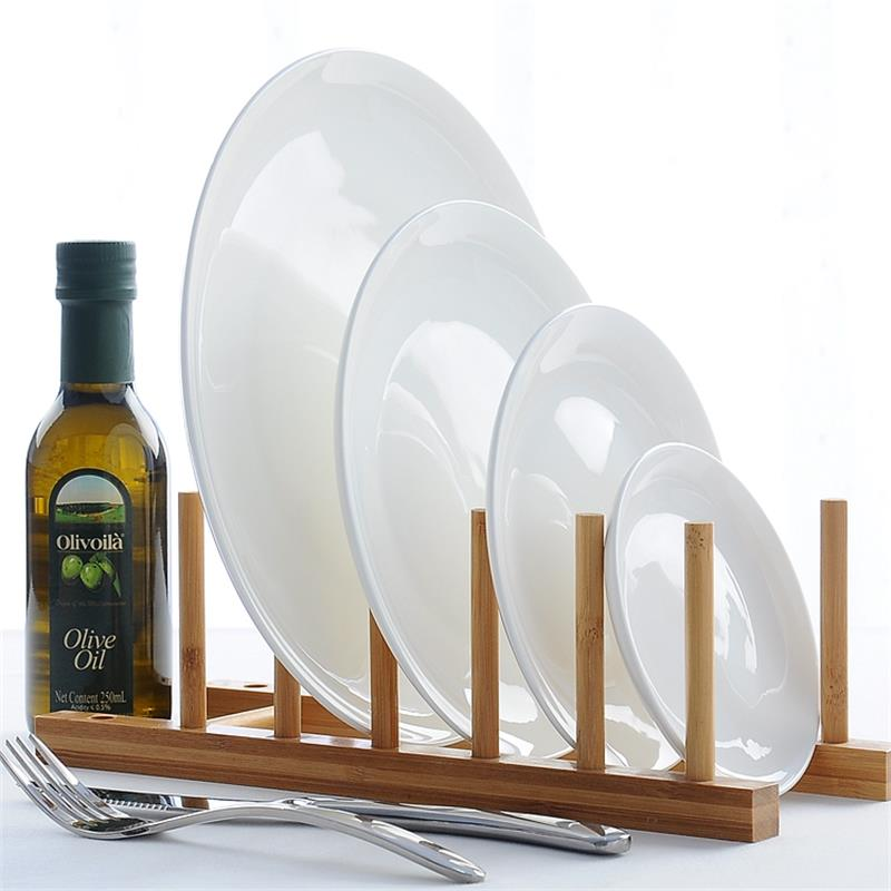 6.5 inch, pure white, bone china, round dish plate, fashion dinnerware, serving tray serveware