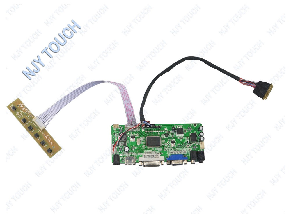 Hot selling HDMI DVI VGA Audio LCD Controller Board LVDS For IVO M101NWT2 1024x600 LED Panel