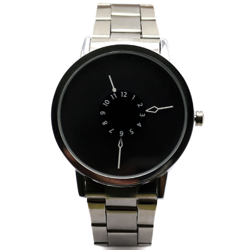 PAIDU Brand New Fashion Stainless Steel Mesh Band Strap Bracelet Turntable Wrist Watches Gift for Men