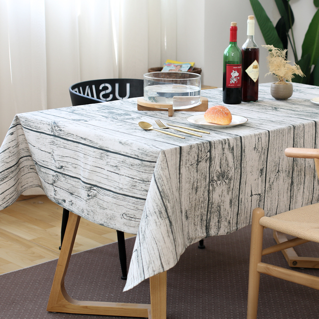 Simulation Wood Grain Table Mats Pads Kitchen Dining Tray Cloth Square Photo Background