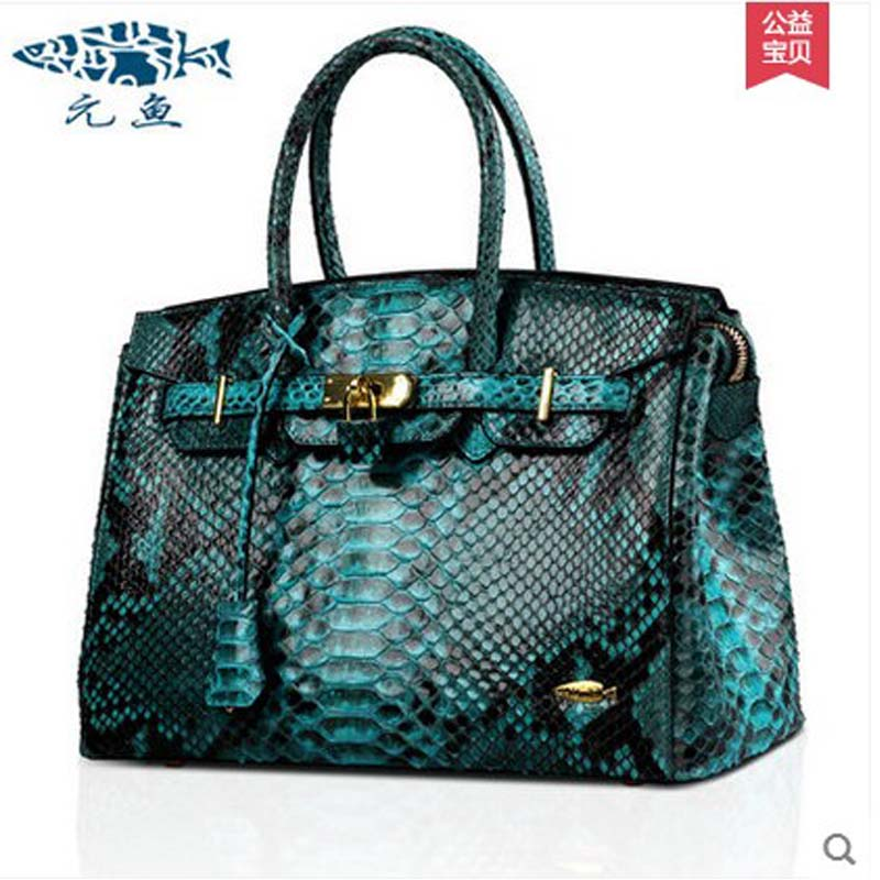 yuanyu real python skin female bag  high-grade Snake leather bag dinner Europe America high end women bag yuanyu real snake skin women bag new decorative pattern women chain bag fashion inclined single shoulder women bag