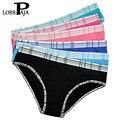 Lobbpaja atacado lote 12 pcs mulher underwear mulheres calcinhas de algodão cuecas femininas calcinhas íntimos xadrez lingerie para as mulheres