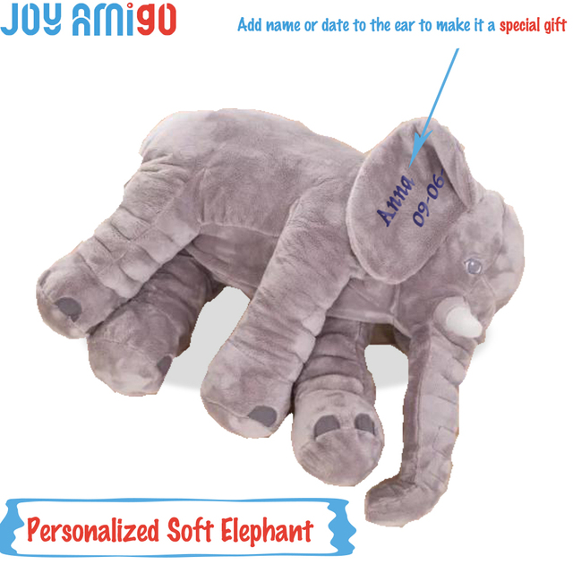 019bdd50b95 Personalized Monogrammed Soft Elephant With Your Choice Of Name Monogram On Ear  Plush Animal Toy Plushies Special Gift For Kids