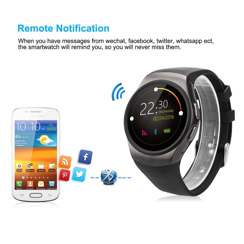 2016 New Product KW18 Smart Watch Android IOS Digital watch Bluetooth Reloj Inteligente SIM Round Heart Rate Monitor Watch Clock26