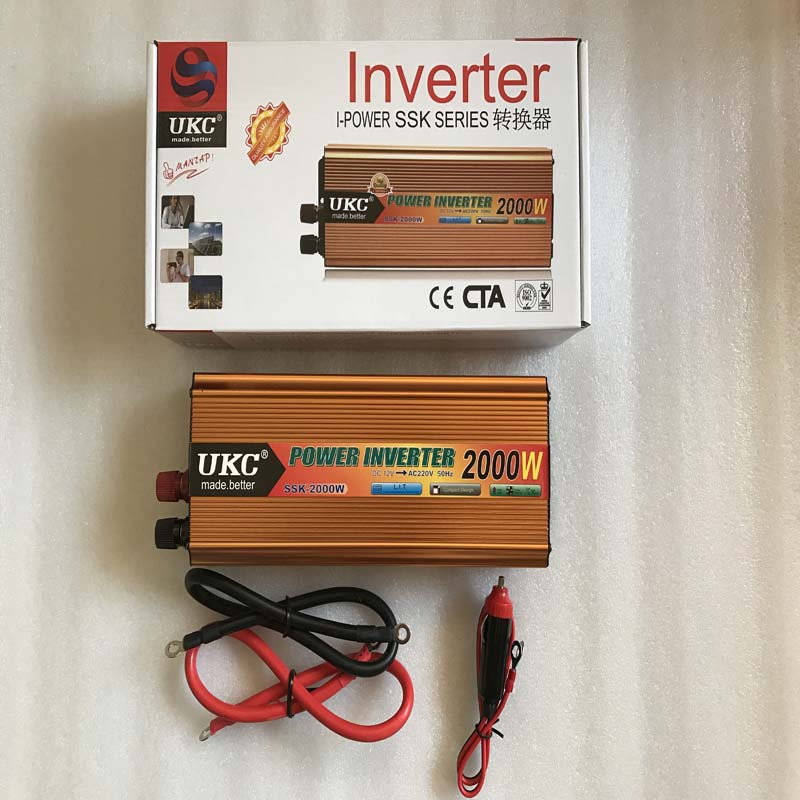 ФОТО UKC 2000W power inverter Car Vehicle DC 12V to AC 220V Power Inverter Adapter Converter