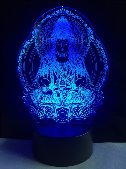 Buddha 3D effect color changing Night Lamp