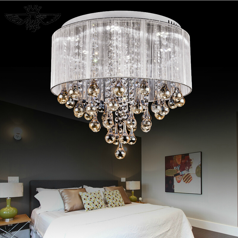 2017 Modern ceiling lights For indoor home lighting lamparas de techo led lamps for living room luminaria teto pendente noosion modern led ceiling lamp for bedroom room black and white color with crystal plafon techo iluminacion lustre de plafond