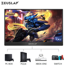 Portable 15.6 Inch 1920*1080 60Hz Full View LCD Screen Monitor Ultra Slim Display NTSC 72% for TV Computer Phone new original 21 5 inch m215hne l30 full viewing angle 1920 1080 lcd screen