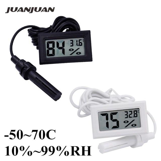 -50 ~ 70C 10% ~ 99% RH ЖК-дисплей Цифровой термометр гигрометр тестер Температурный датчик влажности детектор Скидка 40%