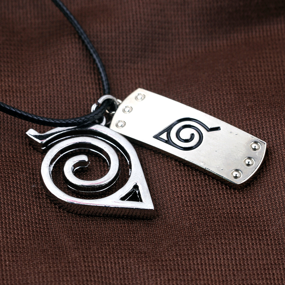 Free delivery Anime Naruto Konoha Logo Necklace Cosplay Costume Accessories Men Women Gift