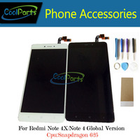 1PC Lot High Quality For Redmi Note 4X LCD Display Touch Screen Digitizer Assembly Black White