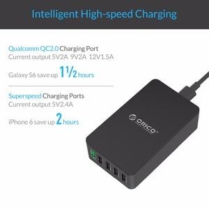 Image 3 - ORICO 5 Port USB Charger Desktop QC2.0 Quick Charger 5V2.4A 9V2A 12V1.5A for iPhone Samsung Huawei Tablet