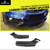 For BMW 2 Series F23 F22 M Sport Front Bumper Splitters Lip Flaps M235i M240i Coupe Convertible 2013 2017 Carbon Fiber / FRP