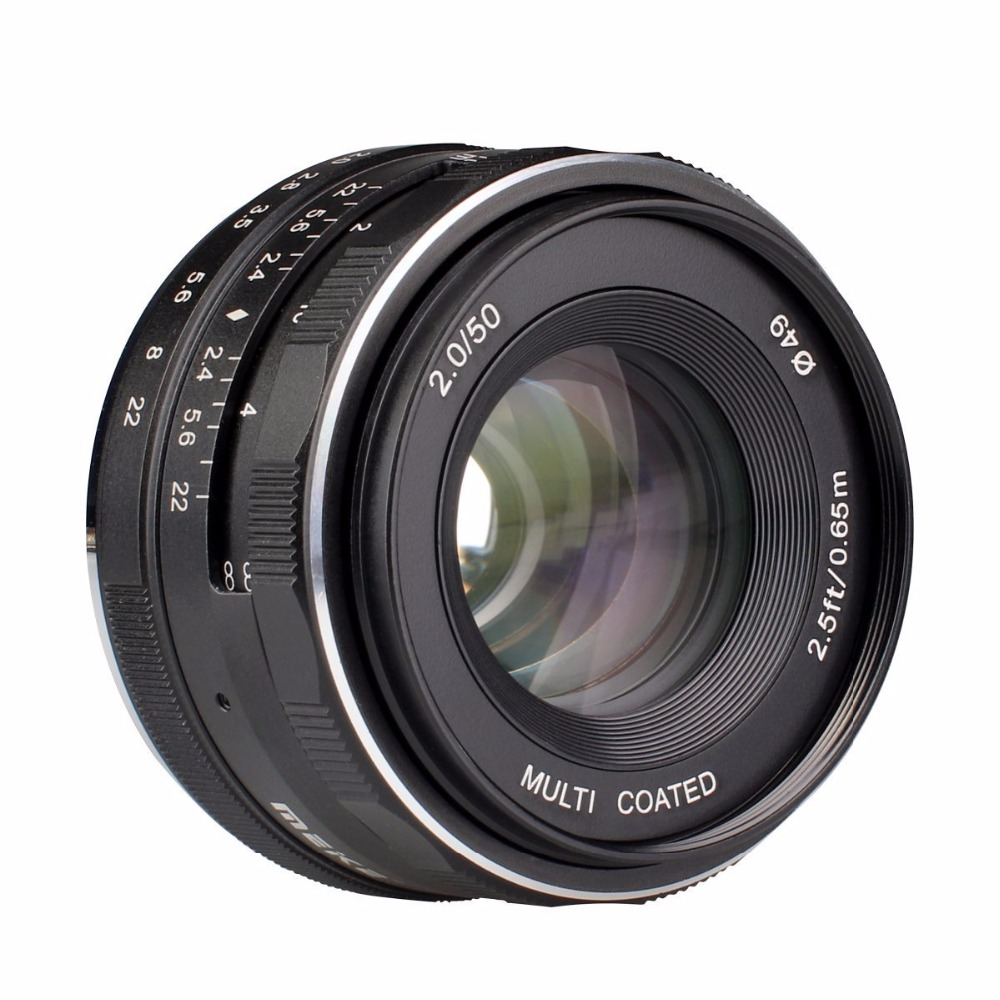 Meike MK-50mm f2.0 Large Aperture Manual Focus lens Fujifilm X Mount Mirrorless APS-C Camera X-Pro2 X-E3 X-T1 X-T2 X-