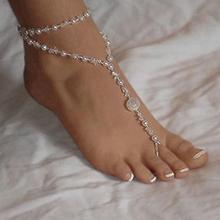 Women Faux Pearl Beaded Anklet Beach Barefoot Sandal Foot Jewelry Chain Bracelet hot new chic faux pearl tassel elastic anklet for women