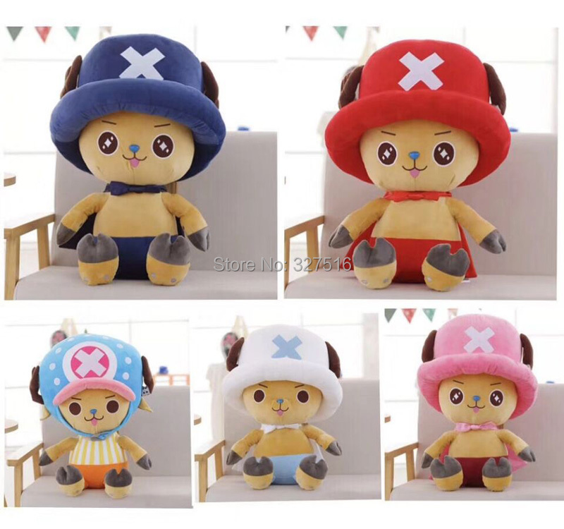 30 cm Anime One Piece figure plush doll Tony Tony Chopper five color figures plush toys free shipping loz one piece tony tony chopper building bricks japanese anime action toys figure kids children gift blocks toy