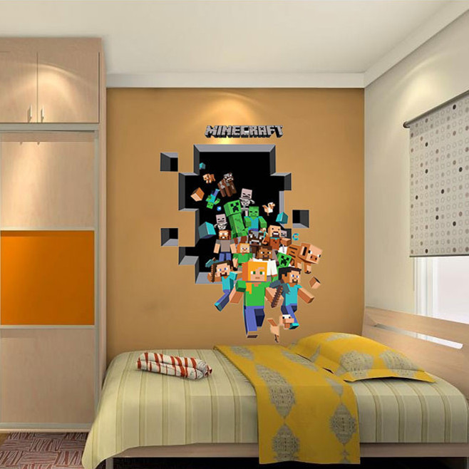 Latest Game Minecraft Enderman Wall Stickers Home Decor Minecraft Wallpaper Party Decorations Decal Sticker on Wall-in Wall Stickers from Home u0026 Garden on ... & Latest Game Minecraft Enderman Wall Stickers Home Decor Minecraft ...
