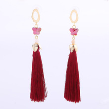 Creative Fashion Woman Earrings Novel Butterfly Shape Long Tassel Jewelry Women Party Banquet Elegant Accessories Decoration