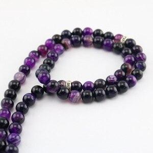 Image 4 - Natural Agate Round Shape 99 prayer Beads rosary Islamic Muslim tasbih Allah masbaha Misbaha tesbih Sibha subha tespeeh