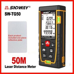Image 4 - SNDWAY 레이저 거리 측정기 레이저 거리 버블 레벨 전자 테이프 눈금자 광학 기기 파인더 레이저 거리 측정기