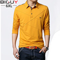 BIG GUY Long Sleeve Polo Shirts Men 2017 New Spring Casual Polos Big Size Male Polo Clothing 4xl 5xl 6xl 322