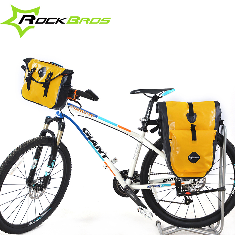 2015 ROCKBROS Rainproof Cycling Front Bag Or Bicycle Rear Seat Bag Saddle Bag Or Ridng Bike Traveling Bag Sets,3Colors rockbros titanium ti pedal spindle axle quick release for brompton folding bike bicycle bike parts
