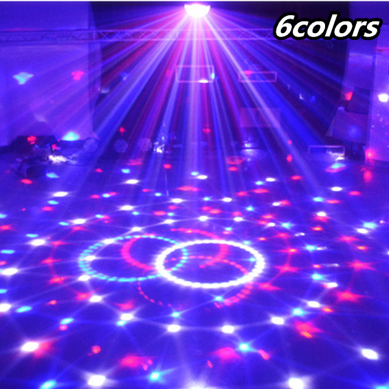 6 Colors Magic Crystal Ball Disco LED Light Party Christmas Laser Projector Lights 110-220V Laser Light Stage Lamp Sound Control rg mini 3 lens 24 patterns led laser projector stage lighting effect 3w blue for dj disco party club laser