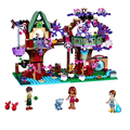 Bela 10414 Elves Series Elves' Treetop Hideaway Building Blocks Bricks Model Toys Toys For Children 41075 Girl's Gift