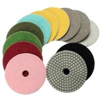 8PCS Diamond Polishing Pads Wet Dry 4 Inch Set For Granite Stone Concrete Marble