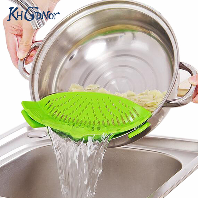kitchen colander aid hood silicone multifunction funnel strainer pot pan bowl baking wash rice accessories gadgets cooking tools
