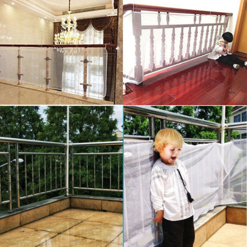 Practical Stair Safety Net Home Protective Grid Mesh Children Secure Guard 3M/2M Stair Railing Fence Net