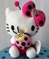 Новый 20 см Cute Hello Kitty Куклы Плюшевые Игрушки Для Детей Мягкие Плюшевые Животных Котенок Держит Божьи Коровки Девушки День Рождения Рождественский Подарок