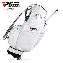 PGM new golf bag men and women hidden rod portable tug pack waterproof PU material