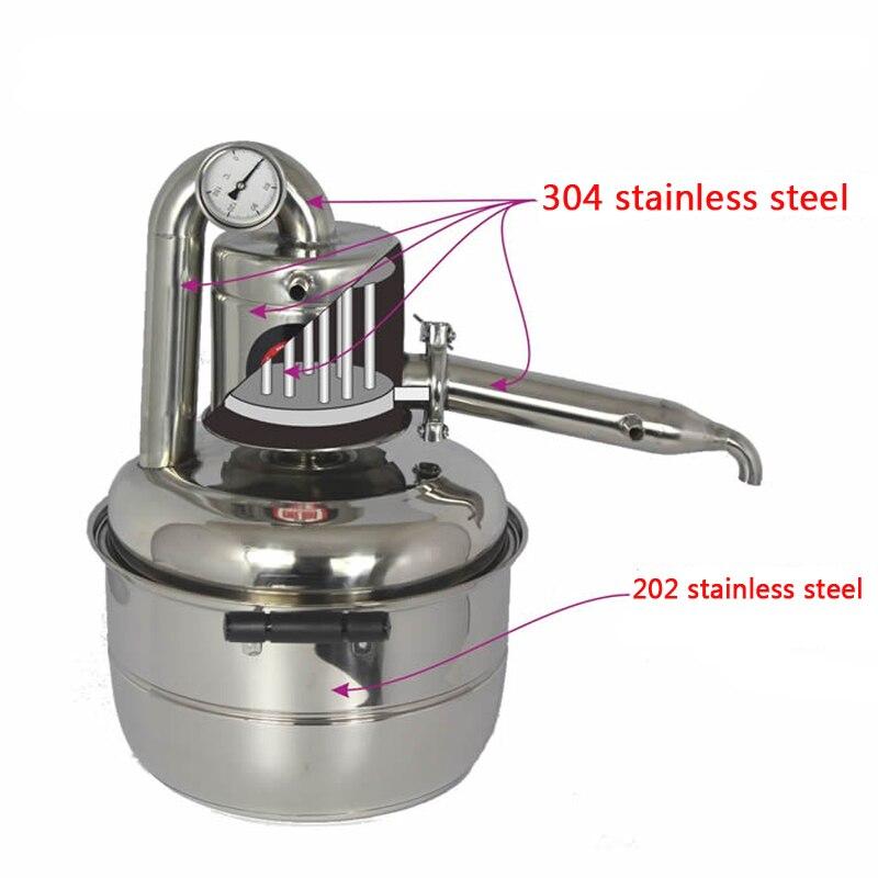 Naujas 10 l vandens alkoholio distiliuotojas namuose, mažas alaus - Staklės ir priedai - Nuotrauka 2