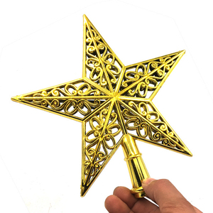 Image 5 - น่ารักที่มีสีสัน Star ต้นคริสต์มาส Hollow ห้าดาว Sparkle Hang Xmas เครื่องประดับตกแต่ง Treetop Topper มิติ