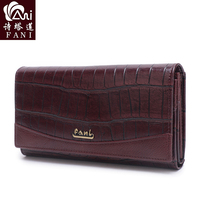 FANI NEW 2018 Leather Women Wallets Long Design Clutch Wallet High Quality Fashion Female Purse ID Card Phone Bags Coin Purse
