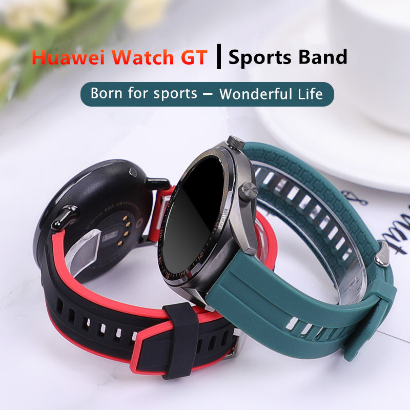 Huawei Watch GT Strap For Samsung Galaxy Watch 46mm Gear S3 Band Sports Silicone 22mm Watch Band Bracelet Gear S 3 46 Watchband
