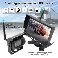 7 Inch Wireless Backup Camera Rear View Camera HD TFT LCD Vehicle Monitor Waterproof Night Vision Camera for Truck RV Trailer