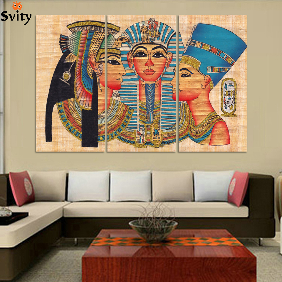 Modern Abstract Egypt Women Painting Print On Canvas Modular Wall Picture For Living Room No Frame