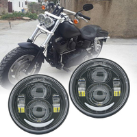 For Harley Dyna Fat Bob FXDF Model Daymaker Projector 4.65 LED Headlamps With DRL For Dyna Fat Bob FXDF Motorcycle