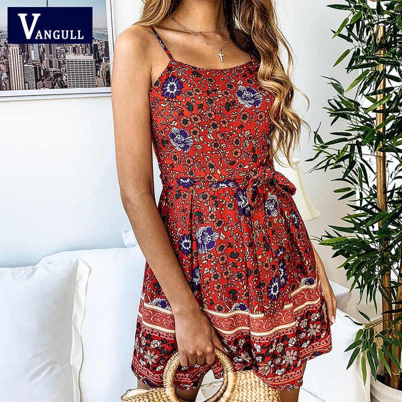 Vangull летние женский комбинезон комбинезоны богемные цветочные принты ремень спинки цельные шорты комбинезоны пляжные Ромпер в стиле бохо