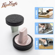 Magic Handheld Cleaning Brushes Bowl Scouring Pad Pot Pan Easy to clean Wash With Tray Kitchen Tool