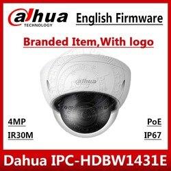 Kamera IP Dahua 4MP POE IPC-HDBW1431E H.265 i H.264 WDR IP67 IVS Max IR30m monitorowanie sieci kamera telewizji przemysłowej IPC-HDBW4433R-S