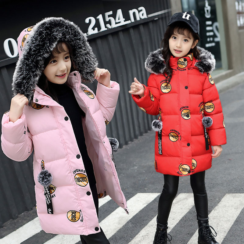 2018 New Girls Winter Coat For Girl Warm Parkas Children Hooded Outerwear Teenage Girl Winter Down Jacket 6 7 8 9 10 11 12 Years fashion girls winter coat long down jacket for girl long parkas 6 7 8 9 10 12 13 14 children zipper outerwear winter jackets